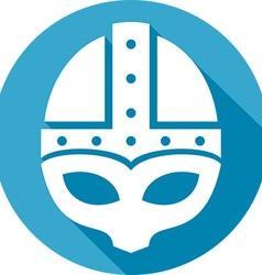 Medieval Helmet Icon vector image