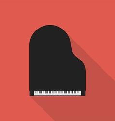 Piano retro vintage icon flat design vector image vector image