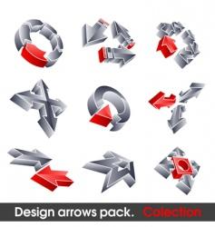 vector arrows design elements vector image