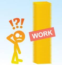 work load vector image vector image