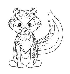 Zorrillo cute wildlife icon vector