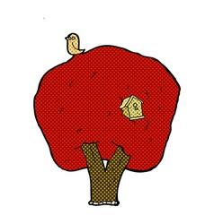 comic cartoon tree with birdhouse vector image vector image