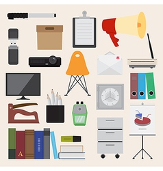 Flat icons office business collection set 2 vector image vector image