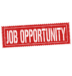 job opportunity sign or stamp vector image