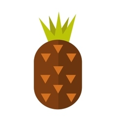 Pineapple isolated vector image vector image
