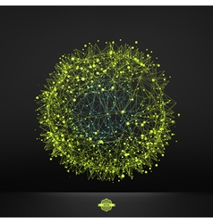 3d abstract spheres vector