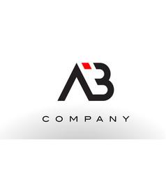 ab logo letter design vector image