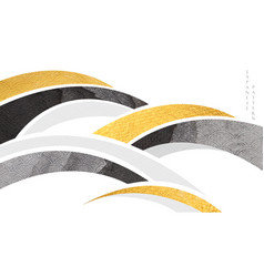 abstract art background with gold and black vector image