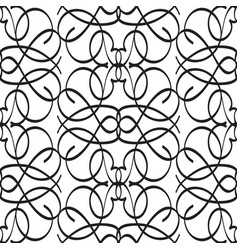abstract monochrome ornate seamless pattern vector image
