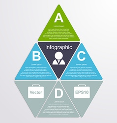 Abstract paper infographic Design elements vector