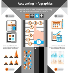 Accounting infographics set vector image