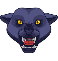 angry black panther head mascot vector image