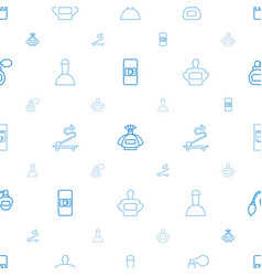 Aroma icons pattern seamless white background vector