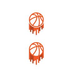 basketball brush symbol vector image