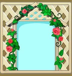 beautiful cute greeting card with frame and space vector image