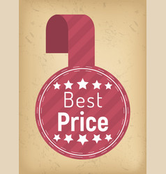 best price on products label for shop discounts vector image