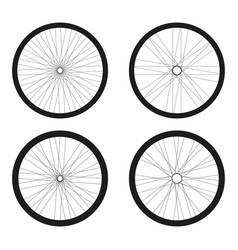 Bicycle tires set design vector