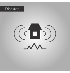 Black and white style icon natural disaster vector