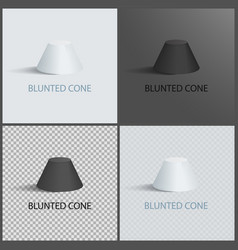 Blunted cone set on dark light and transparent vector
