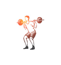 body fitness gym sport man concept vector image