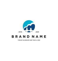 Bridge and cloud logo design vector