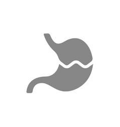 Broken human stomach grey icon damaged diseased vector