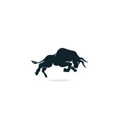 Bull logo design vector