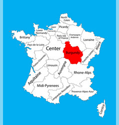 burgundy map france map vector image