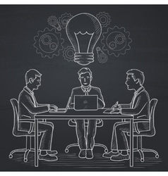 Business team brainstorming vector image
