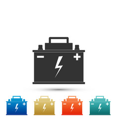 car battery icon isolated on white background vector image