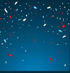 celebration confetti in national colors usa vector image