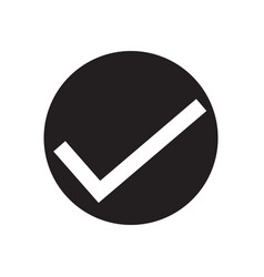 check mark icon on white background check mark vector image vector image
