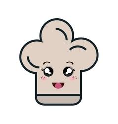 chef hat kawaii style vector image