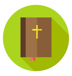 Christian Bible Book with Bookmark and Cross vector image