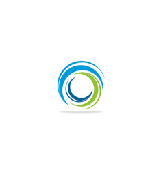 Circle abstract swirl colored logo vector