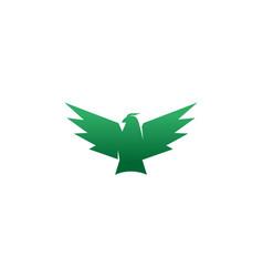 creative geometric green eagle logo vector image