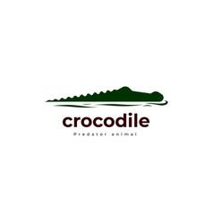 Crocodile reptile logo vector