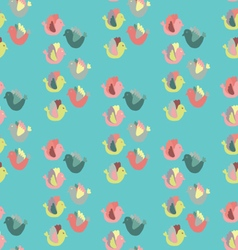 Cute birds in bright colors vector image