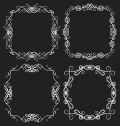 Decorative frame set vector image