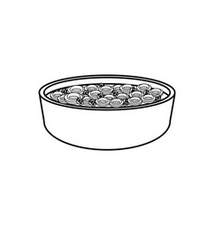 dish with cereal icon vector image