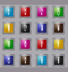 edit glass icons set vector image