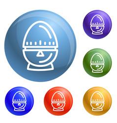 egg timer icons set vector image