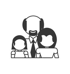 family relation together outline vector image