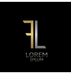 FL letters logo vector