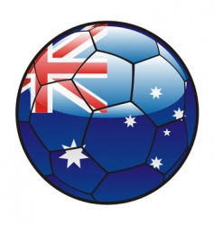 Flag of Australia on soccer ball vector