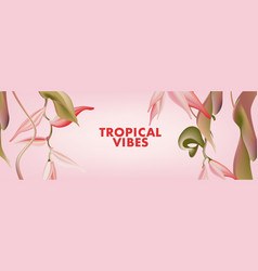floral exotic bloom in pink realistic banner vector image
