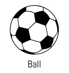 football ball icon simple black style vector image