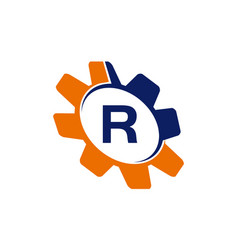 gear initial r vector image