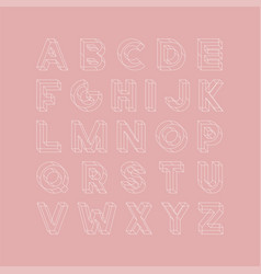 Geometric font english alphabet creative vector