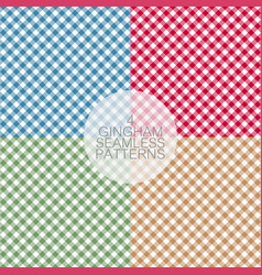 gingham set2 vector image